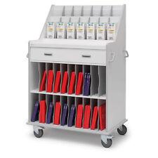 "Catheter Supply Cart  Double  44""W x 27.25""D x 63.5""H 1 ea"