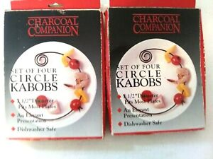 "Skewers, BBQ Kabobs Curved 15"" Long Curves- 7-1/2"" Diameter -NEW-2 sets = 8-Pcs"