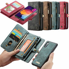 Zipper Wallet PU Leather Purse Flip Case Removable Cover For Samsung A70 A50 A40