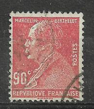 Timbre Oblitéré YT 243 MI 223 Marcelin BERTHELOT 90c Rouge 1927