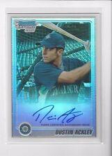 Dustin Ackley 2010 Bowman Chrome Auto Refractor #'ed 303/500 Yankees #BCP89