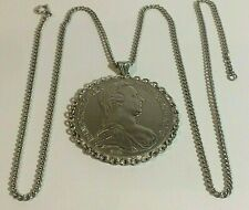 AUSTRIAN  M.THERESIA.D.G 1780. SILVER COIN PENDANT & NECK CHAIN. 41.35,GRAMS
