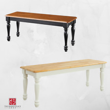 Farmhouse Solid Wood Bench Dining Room Kitchen Long Chair Seat Home Furniture