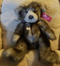 """12"""" Russ Berrie Bears From The Past, Capuccino, Mixed Browns ~ w/Tag ~ NOS NWT"""