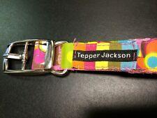 Tepper Jackson Dog Collar (M) Groovy Flower Print, 20 inches
