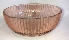"Anchor Hocking QUEEN MARY PINK *7 1/2"" DEEP BOWL*"
