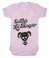 Daddy's Lil Monster Harley Quinn cute baby grow various colours available