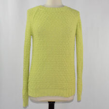 Worthington Women's Pop Color Chunky Knit Sweater LARGE Neon Yellow