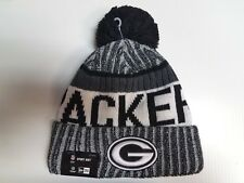 Green Bay Packers New Era Knit Hat Black 2017 Sideline Beanie Stocking Cap NFL