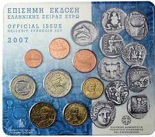 Griechenland 3,88 Euro 2007 Stgl. KMS 1 Cent bis 2 Euro im Blister