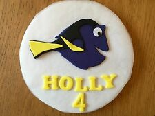 Handmade Edible Sugarpaste Finding Dory Nemo Personalised Cake Topper Decoration