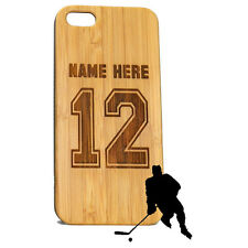 Hockey Jersey Case for iPhone 6 6S Bamboo Wood Custom Personalized Cover Gift