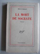 PARAIN  Brice - La Mort de Socrate - EO Ex N° XVII/XX Tirage de tête 1950 TBE