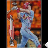 Tommy Edman 2020 Topps Chrome Orange Refractor #/25 St. Louis Cardinals