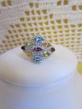 Anello nuovo in argento 925 e gemme
