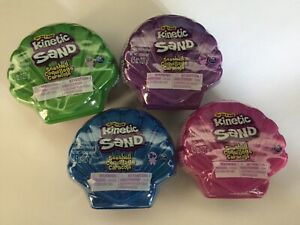 NEW KINETIC SAND Seashell Case ALL 4 Colors 4.5oz SHELL ASMR TOYS Sensory Learn!