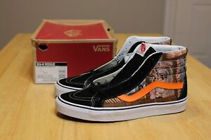 Vans SK8-Hi Reissue Van Doren Hoffman Black Orange Size 10 Skateboarding New DS