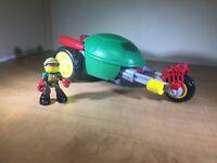 TMNT - Half Shell Heroes - STEALTH BIKE w/ RACER RAPH Figure - Vehicle - 2014
