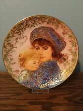 1987 'Catherine and Heather' Edna Hibel Mother's Day Plate, Free Shipping!