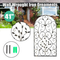 Leaf Wrought Iron Wall Rustic Art Plaque Vintage style Top Grade