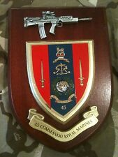 45 Commando Royal Marines Military Wall Plaque+ Pewter SA80