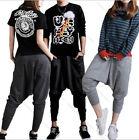 Women Men Couple Dance Casual Sport Pants Baggy Hip-hop Harem Trousers Sweatpant