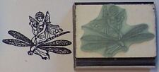 Fairy Riding Dragonfly rubber stamp by Amazing Arts