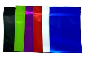 """100 Pack Smell Proof Mylar Bags Aluminum Foil Pouch Resealable Zip Lock 4"""" x 6"""""""