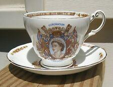 Queen Elizabeth II Coronation Cup and Saucer