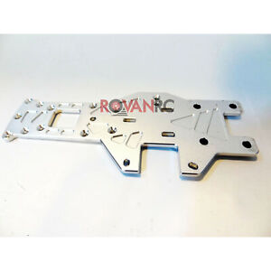 1/5 HD 6mm Thick Silver Aluminum Rear Lower Plate Chassis Frame Fit HPI Baja 5B