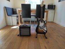E gitarre gebraucht mit Verstärker und Instrumentenkabel