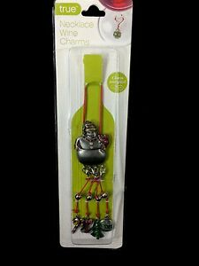 Snowman Wine Bottle Necklace With Attached Wine Glass Charms True Fabrications