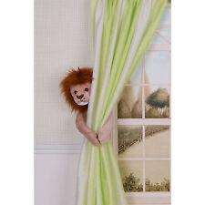 CURTAIN CRITTERS BABY JUNGLE SAFARI ZOO NURSERY LION CURTAIN TIEBACK (1)