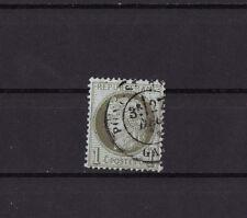 timbre France Cérès    1 c  vert olive    num: 50  oblitéré