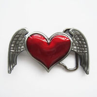 New Belt Buckle Heart Angel Wings Belt Buckle Gürtelschnalle Boucle de ceinture