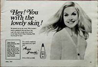 Anne French Hey! You With The Lovely Skin! Vintage Advertisement 1969