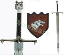 """Game of Thrones  """"Winter is coming"""" Long Claw 42"""" Sword Replica & Plaque #5909"""