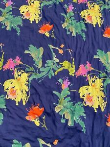 Floral viscose jersey in blue