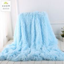 Winter luxury blanket soft and warm comfortable solid color plush blanket