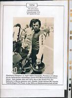 565281 / Motorrad Beleg Autogramm Gianfranco Bonera