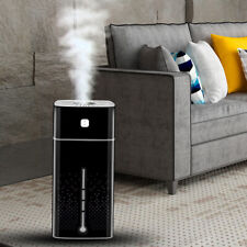 Black 1000ML Ultrasonic Air Humidifier LED Aroma Oils Diffuser Mist Purifier
