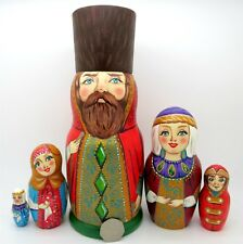 ORIGINALE RUSSE dipinte a mano OPACO RUSSE Boyar wife BAMBINO 5 zenina ARTE