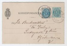 DENMARK AFA 23 By on uprated 4 øre card cds LILLERØD - with content (dated 1901)