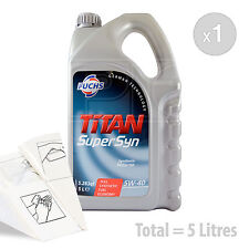Car Engine Oil Service Kit / Pack 5 LITRES Fuchs TITAN SUPERSYN 5W-40 5L