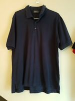 Bobby Jones Polo Shirt Men's Large - 100% Cotton - Dark Blue