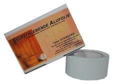Alufolie Sauna Selbstklebeband Dampfsperre Klebeband Rolle Aluminiumfolie 50m
