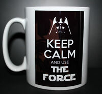 Custom Keep calm and use the force star wars Darth Vader novelty mug cup