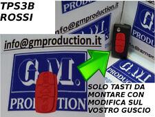 TASTI GOMMINO ROSSI PER chiave telecomando PEUGEOT 407 807 baule con istruzioni
