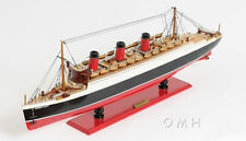 """RMS Queen Mary Ocean Liner Wooden Model 32"""" Cruise Ship Cunard Lines Boat New"""
