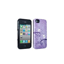 NEW Broodi Slider Hard Cover Purple and White Bird for Apple iPhone 4 4S
